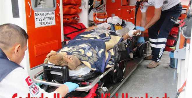 Çadırda Yangın 5 Kişi Yaralandı