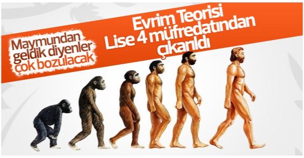 Yeni müfredatta evrim teorisi yok