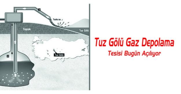 Tuz Gölü gaz depolama tesisi bugün açılıyor