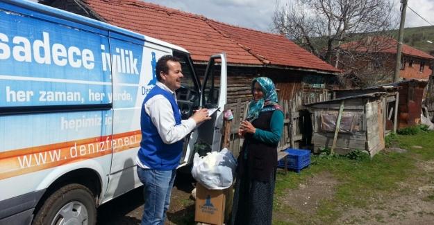 Deniz Feneri Derneği, 200 aileye gıda ve nakit yardımı yaptı