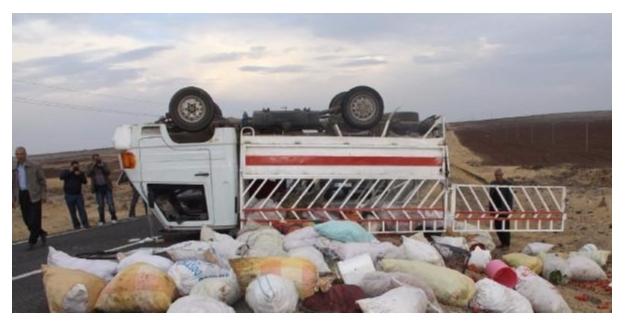 Aksaray'da tarım işçilerini taşıyan minibüs ile kamyon kazasında 14 yaralı