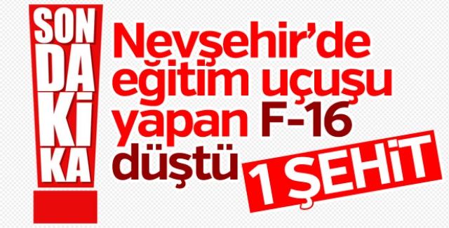 Aksaray-Nevşehir sınırında askeri uçak düştü