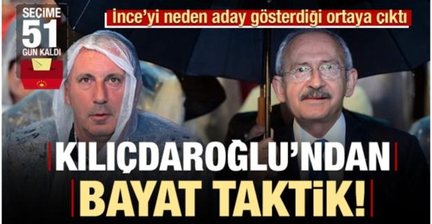 Kılıçdaroğlu'ndan bayat taktik! Son kurban İnce mi?