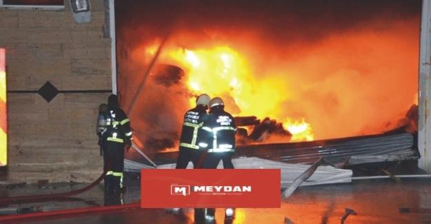 Aksaray'da fabrika yangını büyümeden önlendi