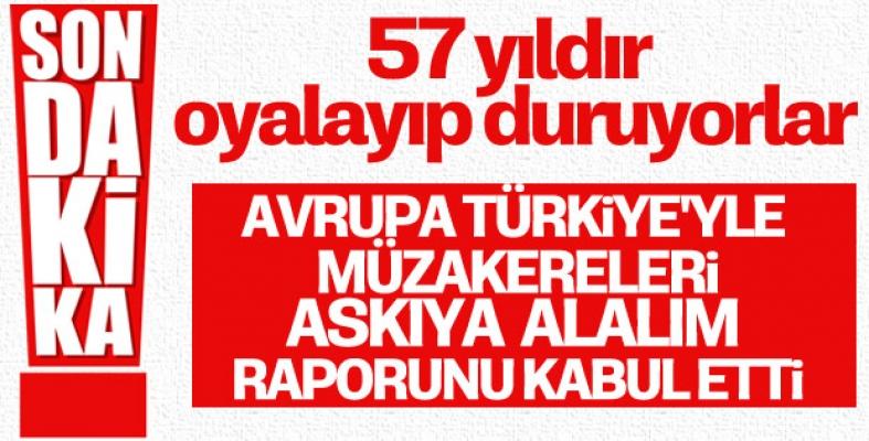 AP Türkiye müzakerelerini askıya alınmasını kabul etti