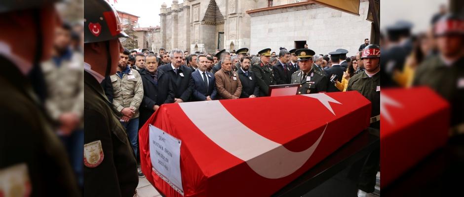 Şehit Mustafa Ergen'i son yolculuğuna uğurlandık