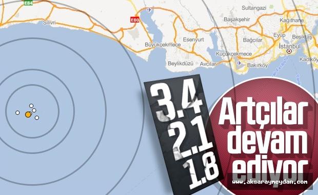 İstanbul Silivri'de artçı depremler meydana geldi