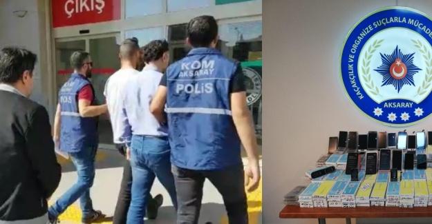 Kaçak cep telefonu operasyonunda 2 tutuklama