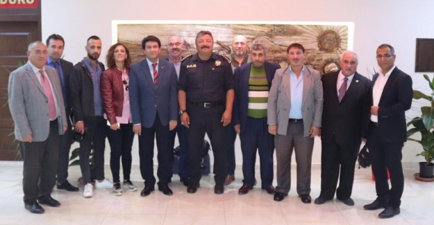 Orta Anadolu Gazeteciler Cemiyetinden yeni Emniyet Müdürüne ziyaret