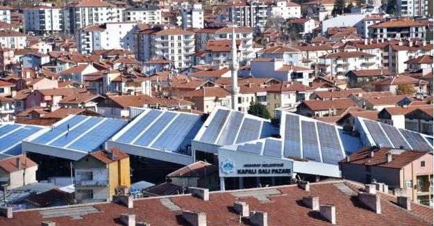 Aksaray belediyesinden güneş enerji santrali