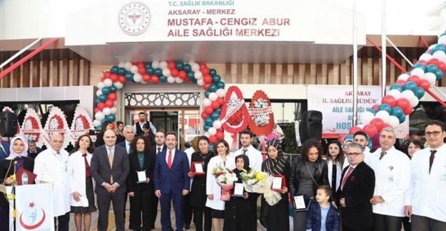 Mustafa-Cengiz Abur Aile Sağlığı Merkezi hizmete açıldı