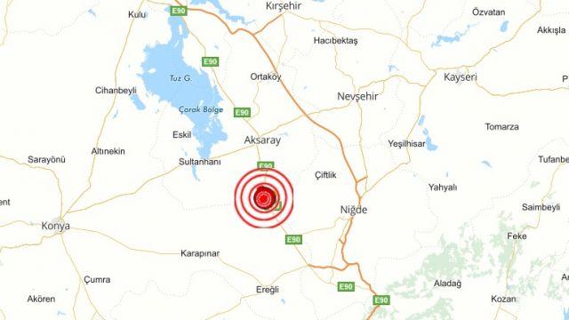 Aksaray-Niğde Artçı Depremler devam ediyor..