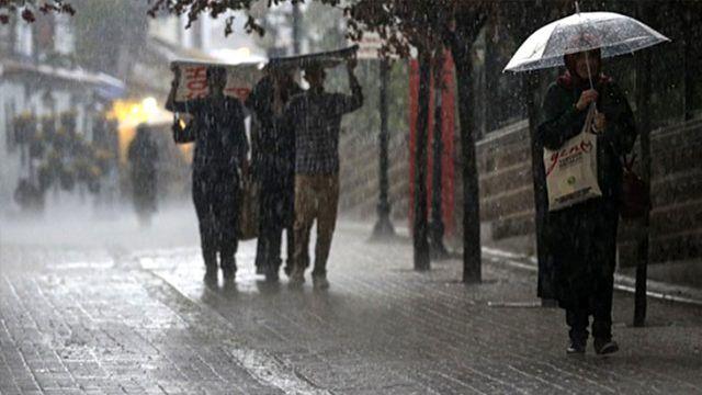 Meteoroloji'den 9 il için kuvvetli sağanak yağış uyarısı