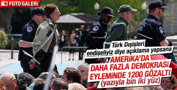Demokrasi Baharı gösterilerinde bin 200 gözaltı