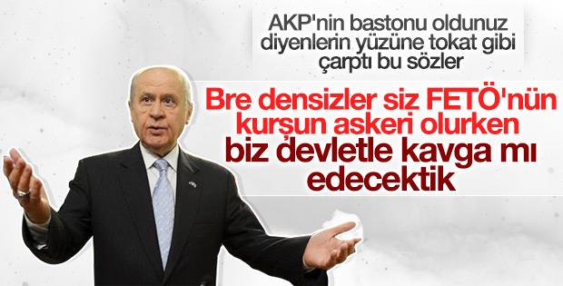 Bahçeli'den AKP'nin bastonu oldunuz diyenlere sert yanıt