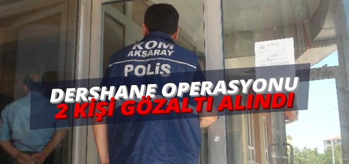 Aksaray'da Dershane Operasyonu