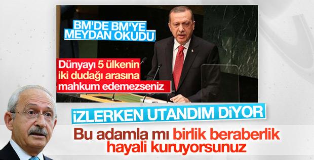 Kılıçdaroğlu'ndan Erdoğan'ın BM konuşmasına sert eleştiri