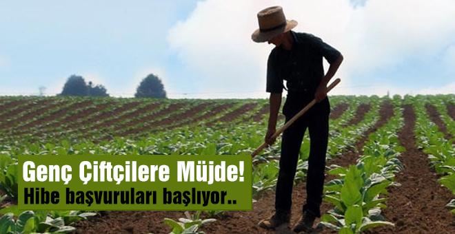 Genç çiftçilere hibe başvuruları başlıyor