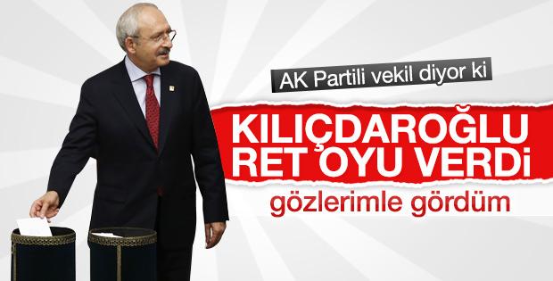 Kemal Kılıçdaroğlu hayır oyu kullandı