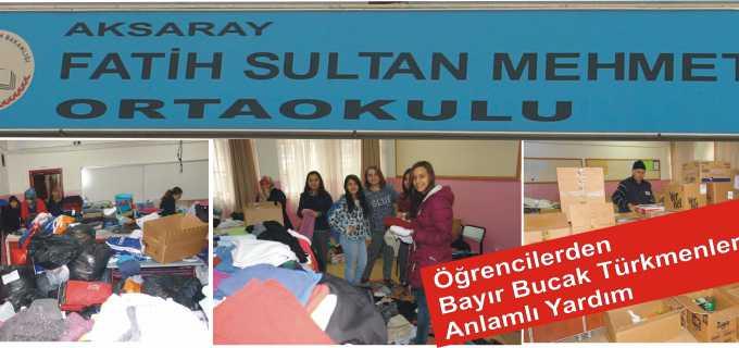 Öğrencilerden Bayır Bucak Türkmenlerine Anlamlı Yardım