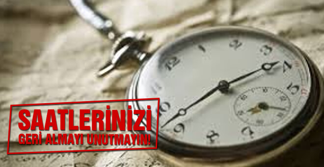 Saatler ne zaman geri alınacak