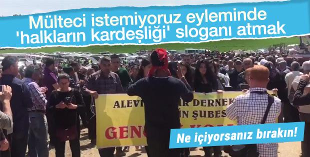 Suriyeli karşıtı eylemde ilginç slogan