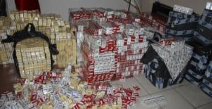 23 bin 200 paket kaçak sigara ele...