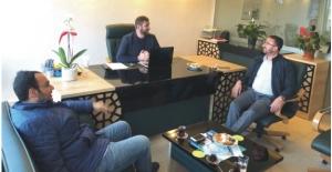 AR-GE İl Başkanı Ateş ve HUDER Başkanı Av. Aslan'dan gazetemize ziyaret