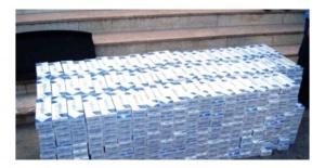 17 Bin paket kaçak sigara ele geçirildi