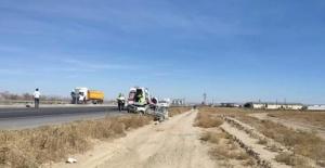 Araç bankete düştü: 1 yaralı