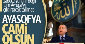 Erdoğan'dan Ayasofya kararı