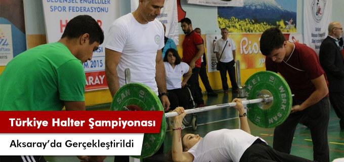Türkiye halter şampiyonası Aksarayda yapıldı