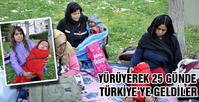 Yürüyerek 25 günde Türkiye'ye geldiler