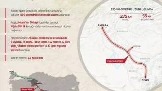 Ankara-Niğde Otoyolu 4 Eylül'de açılacak